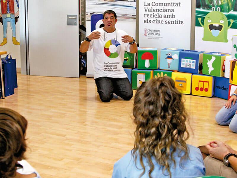 Campaña de ereciclaje en Valencia